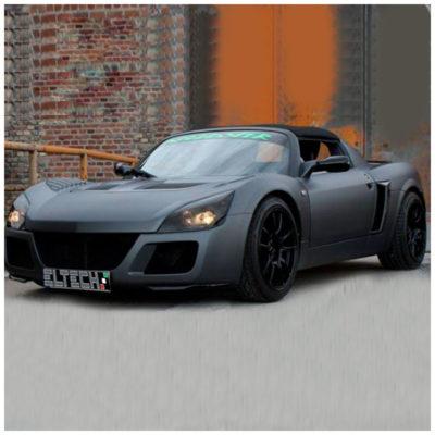 Prese d'aria frontali in carbonio per Opel Speedster e Vauxhall VX220 | Eltech Italia